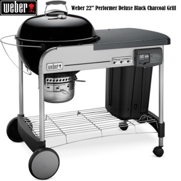 "Weber 22""  Performer Deluxe Charcoal Grill- Available in 4 Colors"