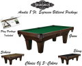Brunswick Ainslie 8 Ft. Espresso Billiard Table Package With Choice Of 3- Table Cloth Colors