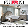 Bristol Collection Featuring a Neutral Gray/Brown Finish, Full Extension Drawers & Shapely Headboard