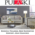 Pulaski Leather for the WOW Factor Featuring Chic Design & Individually Wrapped Drop-in Coil Seating