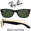 RayBan Unisex Two Toned Wayfarer Sunglasses-Available In Black/Beige