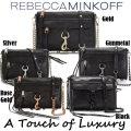Rebecca Minkoff Black T/Z Mini M.A.C. Crossbody W/ Chain/Lthr Strap-Available In 5 Hardware Colors