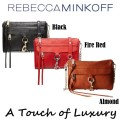 Rebecca Minkoff Top Zip Mini M.A.C. Crossbody With Chain / Leather Strap - Available in 3 Colors