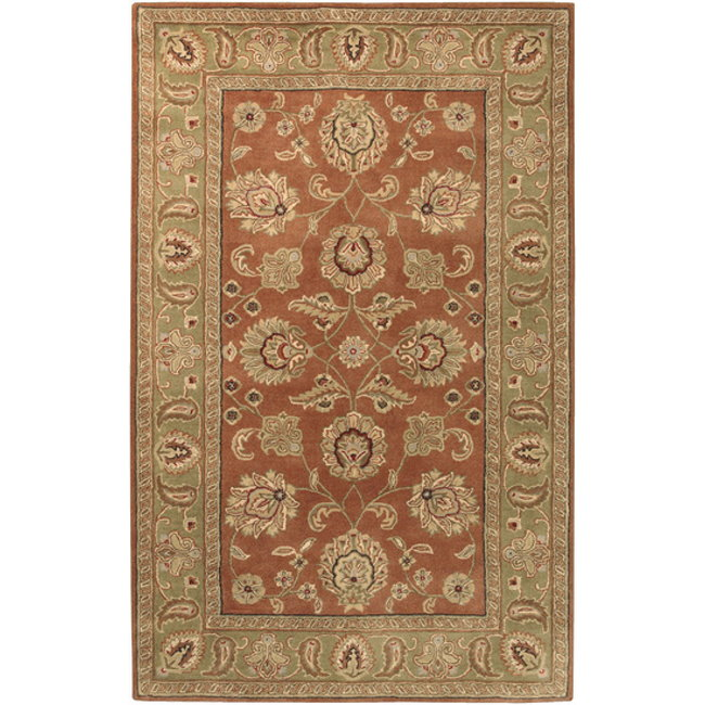 Surya Crowne Rust Traditional 8x11 Plush Pile Area Rug Luther