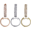 Fine Jewelry - Womens 14K Gold Diamond Small Hoop Earrings In Your Choice Of Yellow Or Rose Gold