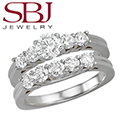 Women's 14K Gold Diamond Bridal Ring Set - Choice of White or Yellow Gold