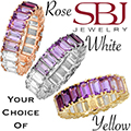 Women's 14K Gold Purple Gemstone Ombre Ring - Choice of Rose, White or Yellow Gold