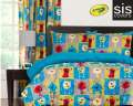 Monster Friends Crayola Reversible Collection 3-Piece Full Bedding Set