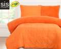 Playful Plush Outrageous Orange Crayola Reversible Collection 2-Piece Twin Bedding Set