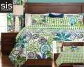 Bali Studio Print Reversible Collection 6-Piece King Bedding Set