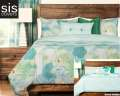 Cubana Studio Print Reversible Collection 6-Piece Queen Bedding Set