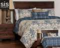Genoa Studio Print Reversible Collection 6-Piece Queen Bedding Set