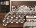 Plaid Men Studio Print Reversible Collection 6-Piece Queen Bedding Set