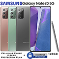 Samsung 128GB Galaxy Note20 5G *UNLOCKED* With Cellular Phone 2Yr Protection Plan+Accidental Damage