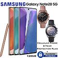 Samsung 128GB GalaxyNote20 5G *UNLOCKED* & 2Yr Protection Plan+Accidental Damage Bundled W/Watch3