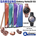 Samsung 128GB GalaxyNote20 5G *UNLOCKED* & 2Yr Plan+Accidental W/Watch3 & Buds Live