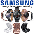Samsung 41mm Galaxy Watch3 Bundled with Samsung Galaxy Buds Live True Wireless Earbud Headphones