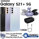 Samsung 128GB GalaxyS21+ 5G*UNLOCKED*Bundled w/Galaxy Buds Pro, Fast Charger & 2-Yr Protection Plan