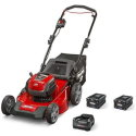 """Snapper XD 82V MAX Cordless Electric 21"""" Push Lawn Mower, Red/Black with Kit"""