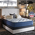 "Mt Dana 14.5"" Firm or Plush Innerspring Full Mattress + Foundation"