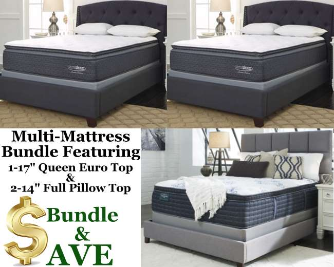 Bundle Up Save W Our 3 Pillow Top Pkg Featuring 1 17 Qn Euro Top