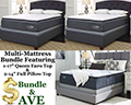 "Bundle Up & Save W/Our 3-Pillow Top Pkg Featuring 1-17"" Qn Euro Top & 2-14"" Fl Pillow Top Mattresses"