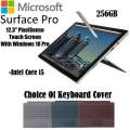 Microsoft  Surface Pro 12.3� Touch-Screen � Intel i7,8GB Mem, 256GB,  Surface Pen and Type Cover
