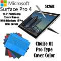 Microsoft 512GB SurfacePro 4 IntelCorei7 Tablet W/16GB RAM, Windows 10 Pro, Surface Pen & Type Cover