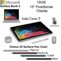 "Microsoft Surface Book 2 15"" 16GB Intel i7 Notebook With Surface Pro Pen, Wireless Mouse & Surface D"