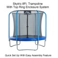 Skytric 8 FT. Trampoline with Top Ring Enclosure System Equipped with An Easy Assembly Feature