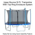 Upper Bounce 16 FT. Trampoline & Enclosure Set Equipped with the New Easy Assemble Feature