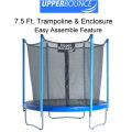 Upper Bounce 7.5 Ft. Trampoline & Enclosure Set Equipped with The New
