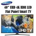"Samsung 40"" Black LED UHD 4K Smart HDTV-Available In Black Flat Panel"