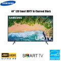 "Samsung 43"" Black LED UHD 4K Smart HDTV-Available In Black Flat Panel"