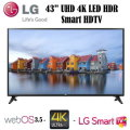 "LG 43"" UHD 4K LED Smart HDTV With WebOS 3.5 -Available In Black Flat Panel"
