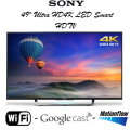 "Sony 49"" Ultra HD 4K LED Smart HDTV Featuring Built-In WiFi- Available In Black Flat Panel"