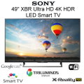 "Sony 49"" XBR Ultra HD 4K HDR LED Smart HDTV Featuring 4K X-Reality PRO-Available In Black Flat Panel"