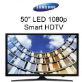 "Samsung 50""LED 1080p Smart HDTV Featuring Motion Rate 20- Available In Black Flat Panel"