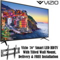 Vizio 70� 2160p 4K Ultra HD LED TV With Tilted Wall Mount, Delivery & FREE Installation