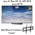 "Sony 55"" 4K Ultra HD Smart TV with High Dynamic Range-Includes Tilted Wall Mount & Free Installation"