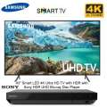 "Samsung 43"" Black UHD 4K HDR LED Smart HDTV With Sony 4K BluRay Disc Player- Available In Black"