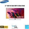 "Samsung 55"" UHD 4K HDR QLED Smart HDTV-Available In Black Flat Panel"
