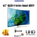 "Samsung 65"" Curved  QLED 4K UHD 8 Series Smart HDTV With Built-In WiFi Available In Silver Flat Scre"