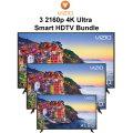 Go Big With Our Vizio 4K 3 TV Smart TV Bundle Featuring 65
