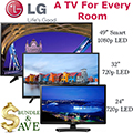 LG 3-TV Flat Panel LED HDTV Bundle Featuring One TV For Each Room In Your Home!