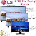 LG 3-TV Flat Panel LED Smart HDTV Bundle Featuring One TV For Each Room In Your Home!