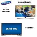 "Samsung LED HDTV 2-TV Bundle Featuring 49"" Class Smart LED HDTV & 32"" LED HDTV"