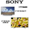 "Sony 2-TV Package With A 49"" XBR Ultra HD LED Smart TV & 32"" LED 1080p HDTV With Built-in WiFi"