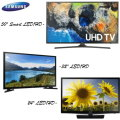 "Samsung 3-TV Bundle, TV's For Every Room 1-50"" Smart LED HDTV, 1-32"" LED HDTV & 1-24"" LED HDTV"