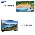 "Samsung 3-TV Bundle, TV's For Every Room 1-50"" Smart LED HDTV & 2-32"" LED HDTV"